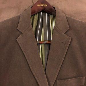 ETRO Brown Cotton Slim Fit Blazer 46R